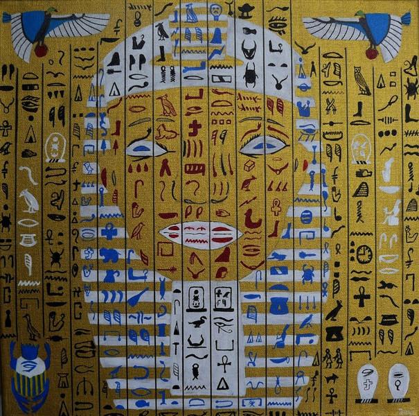 Skarabäus, Hieroglyphen, Kopf, Acrylmalerei, Ramses, Ägypten