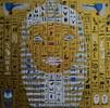 Ramses, Hieroglyphen, Skarabäus, Acrylmalerei