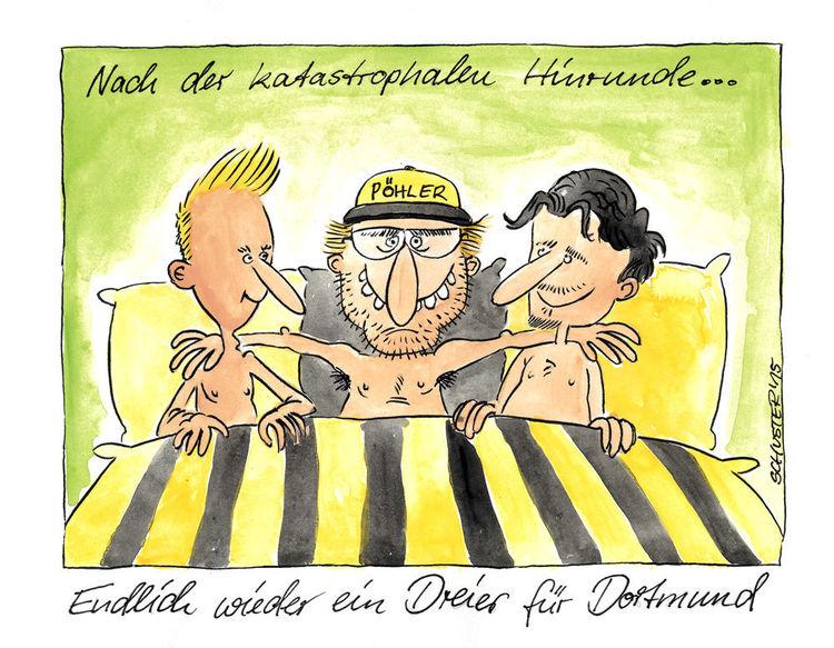 Hummels, Dortmund, Karikatur, Klopp, Cartoon, Reus