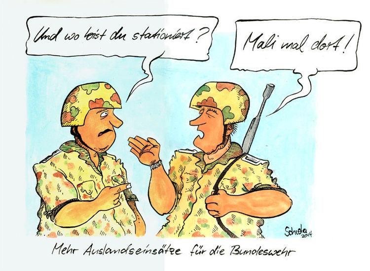 Bundeswehr, Karikatur, Cartoon, Zeichnungen,