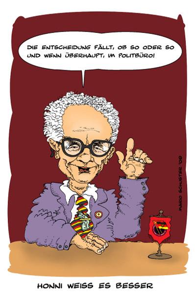 Bild Ddr, Honecker, Zeichnungen, Weiß von Mario Schuster