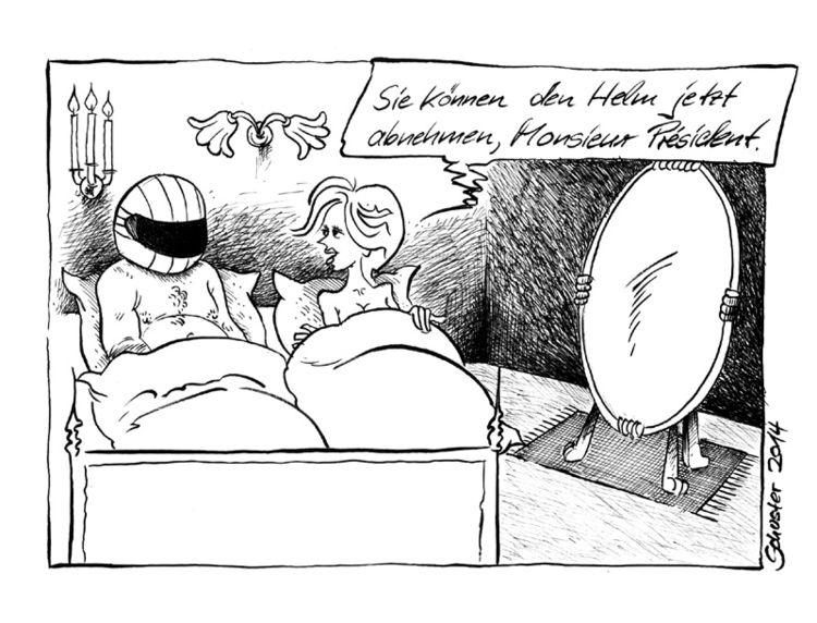 Cartoon, Hollande, Frankreich, Karikatur, Zeichnungen, Bett