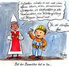 Bischof, Cartoo, Karikatur, Van elst kirche