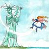Cartoon, Zeichnung, Karikatur, Trump