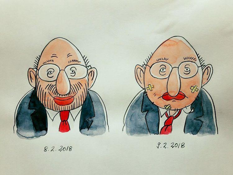 Angela merkel, Spd, Cdu, Groko, Politik, Zeichnungen