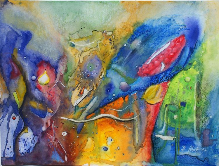 Aquarellstifte, Bunt, Gedanken, Aquarellmalerei, Wesen, Universum