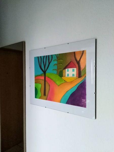 Baum, Orange, Landschaft, Zeichnungen