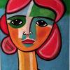 Augen, Rot, Bunt, Malerei