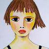 Pastellmalerei, Rot, Mädchen, Zeichnungen