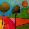 Baum, Sonne, Himmel, Zeichnungen
