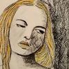 Kohlezeichnung, Frau, Pastellmalerei, Zeichnungen