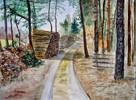 Aquarellmalerei, Wald, Malerei