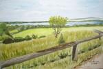 Landschaft, Aussicht, Sommer, Aquarellmalerei