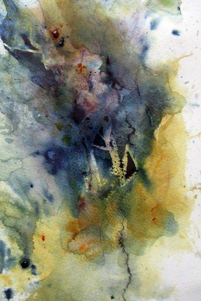 Aquarellmalerei, Nass, Abstrakt, Aquarell, Rückkehr