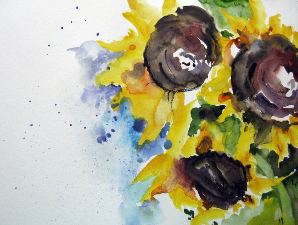listige sonnenblumen malerei pflanzen sonnenblumen von kerstin sigwart bei kunstnet. Black Bedroom Furniture Sets. Home Design Ideas
