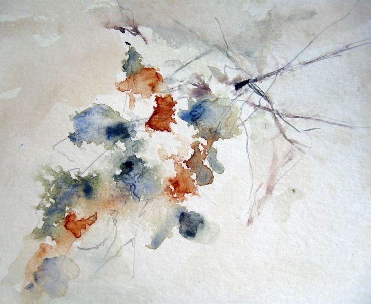Skizze, Abstrakt, Blumen, Schicht, Aquarellmalerei, Nass