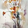 Schicht, Blumen, Abstrakt, Skizze