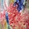 Abstrakt, Schicht, Nass, Aquarellmalerei