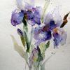 Schicht, Blumen, Nass, Aquarell