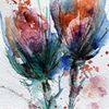 Skizze, Aquarellmalerei, Nass, Blumen