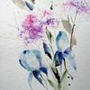 Nass, Schicht, Aquarellmalerei, Blumen