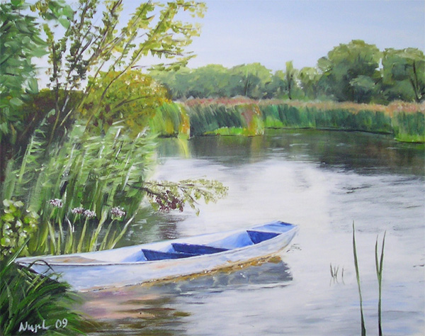 Abend, Wasser, Boot, Landschaft, Fluss, Havel