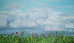 Acrylmalerei, Landschaft, Blumen, Malerei