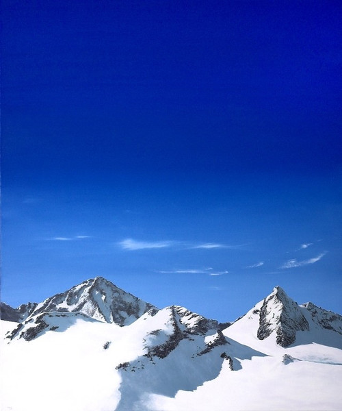 Ölmalerei, Landschaft, Himmel, Berge, Realismus, Malerei