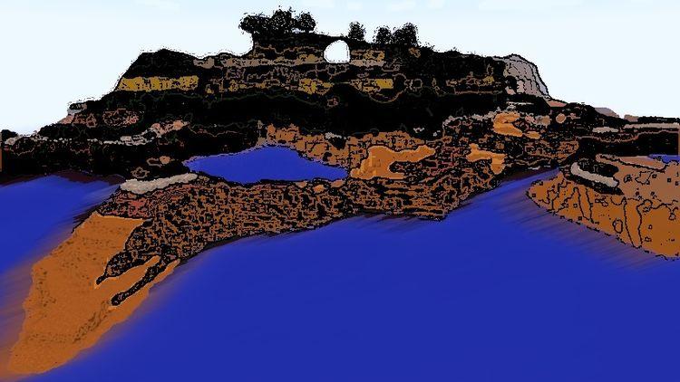 Insel, Distanz, Digitale kunst