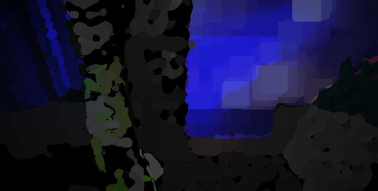 Abend, Fernseher, Gesicht, Digitale kunst