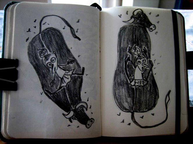 Kuh, Reiten, Zeichnungen, Tiere