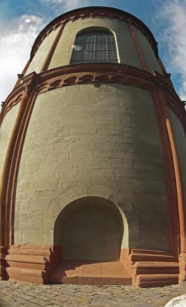 Ohne eingang, Vertikalpanorama, Lichtschatten, Würzburg, Kirche, Ohne ausgang