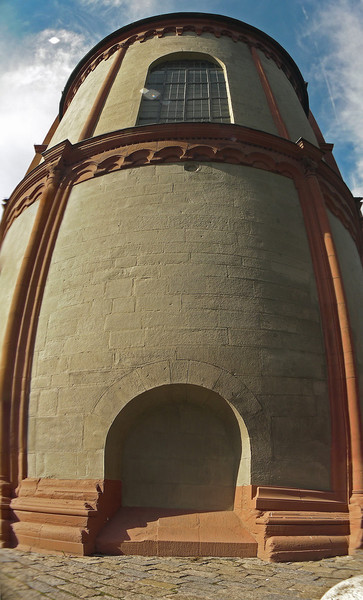 Vertikalpanorama, Würzburg, Lichtschatten, Zumauern, Kirche, Ohne ausgang