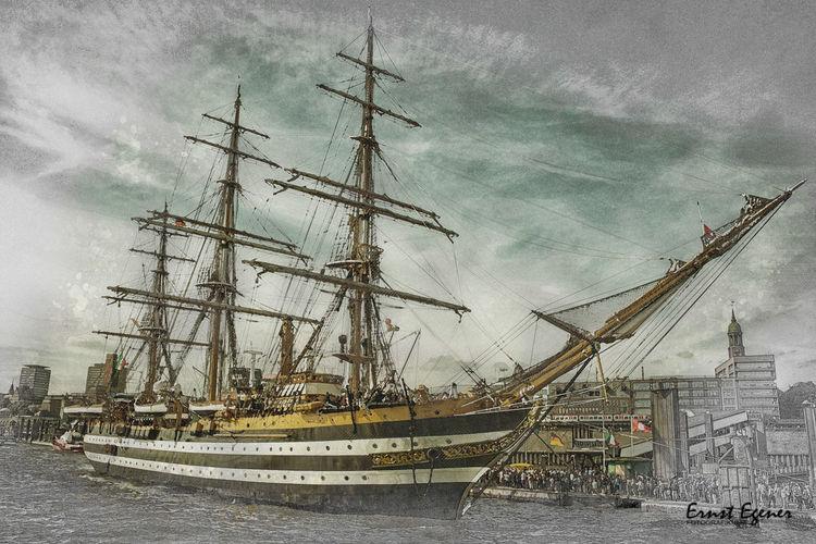 Schiff, Landungsbrücken, Segelschiff, Fotografie, Technik, Hamburg