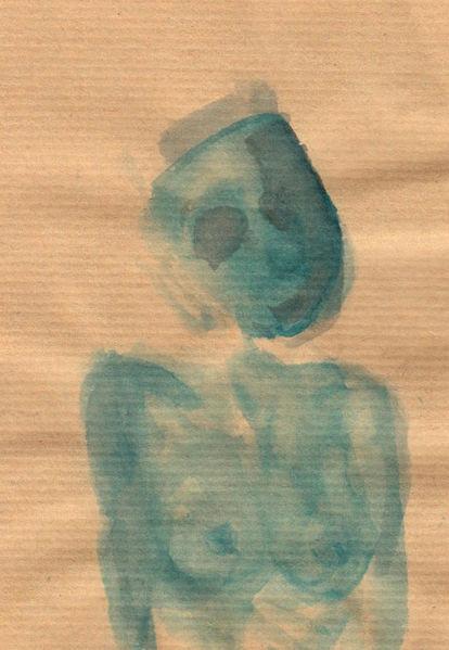 Figural, Surreal, Abstrakt, Aquarell