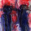 Blau, Surreal, Abstrakt, Rot
