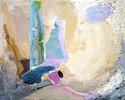Malerei, Abstrakt, Kreide