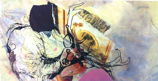Mischtechnik, Acrylmalerei, Tusche, Malerei,