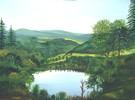 Nadelwald, Wasser, Eifel, Landschaft