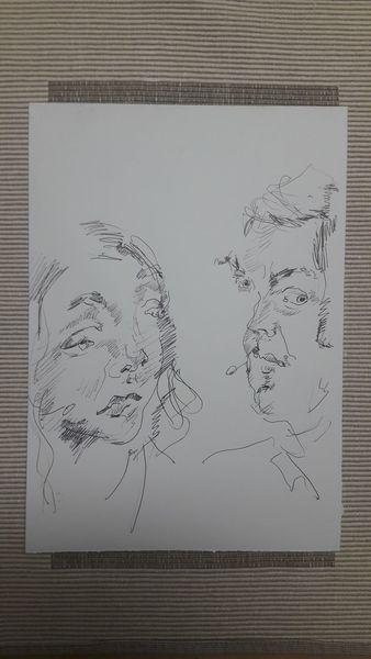 Mann, Gespräch, Frau, Zeichnungen