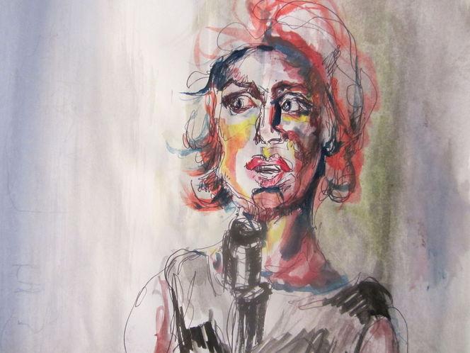 Zeichnungen, Sängerin