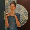 Frau, Frauenportrait, Figural, Malerei