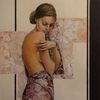 Portrait, Frau, Malerei,