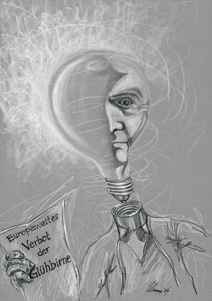 Portrait, Buntstiftzeichnung, Edison, Karikatur, Nonsens, Zeichnung