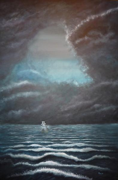 Klima, Wasser, Meer, Wolken, Schmelzen, Acrylmalerei