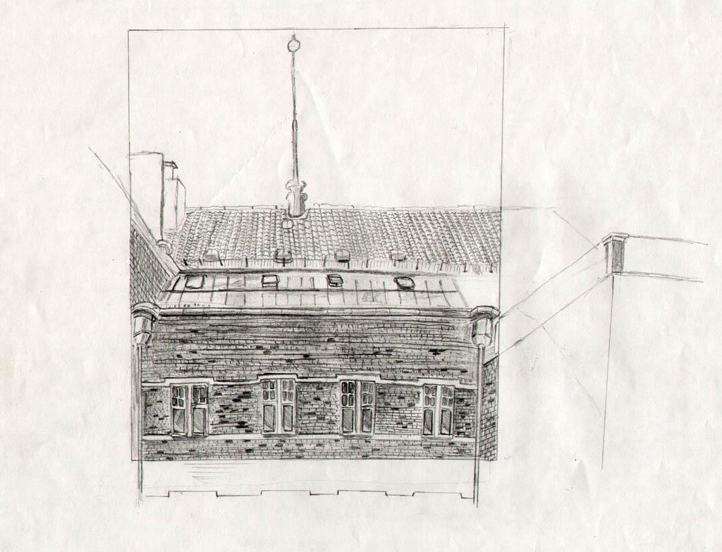 bild architektur skizze bleistiftzeichnung zeichnung. Black Bedroom Furniture Sets. Home Design Ideas