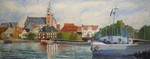 Landschaft, Hafen, Schinken, Malerei