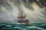 Boot, Gemälde, Schiff, Ölmalerei
