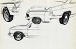 Federzeichnung, Oldtimer, Auto, Zeichnungen