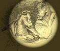 Schweinekrippe - geburt grippe illustration josef karikatur krippe maria medien schwein weihnachten zeichnung